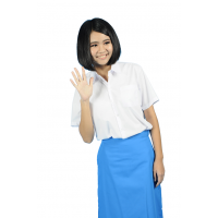SECONDARY SCHOOL WHITE SHIRT SHORT SLEEVE (GIRLS) - WRINKLE-FREE