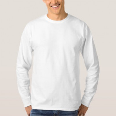 SECONDARY WHITE T-SHIRT ROUND COLLAR- LONG SLEEVES