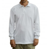 SECONDARY WHITE COLLAR T-SHIRT - LONG SLEEVES