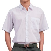 SECONDARY SCHOOL WHITE SHIRT SHORT SLEEVE (UNISEX) - WRINKLE-FREE