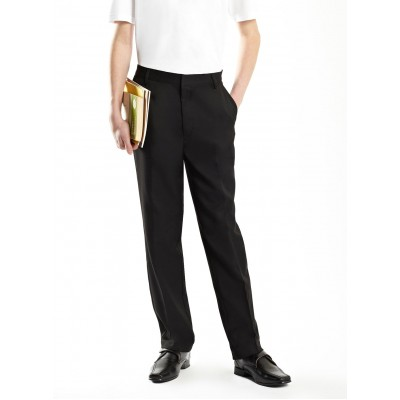 SECONDARY SCHOOL LONG PANTS - BLACK (COTTON)