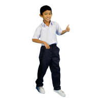 PRIMARY SCHOOL NAVY BLUE LONG SCHOOL PANTS - COTTON