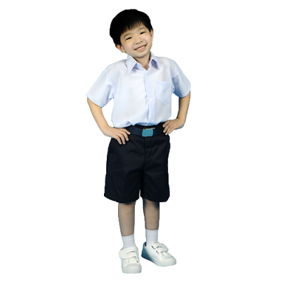 PRIMARY SCHOOL BOY WHITE SHIRT - COTTON