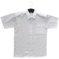 PRIMARY SCHOOL WHITE SHIRT SHORT SLEEVE (BOYS) - WRINKLE-FREE
