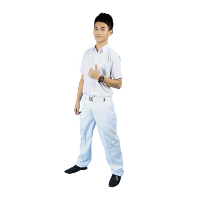 SECONDARY SCHOOL LONG WHITE PANTS - KAIN LICIN