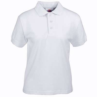 PRIMARY SCHOOL WHITE COLLAR T-SHIRT - SHORT SLEEVES