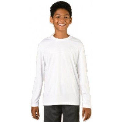 PRIMARY WHITE T-SHIRT ROUND COLLAR- LONG SLEEVES